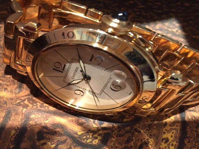 Cartier Pasha oro automatico