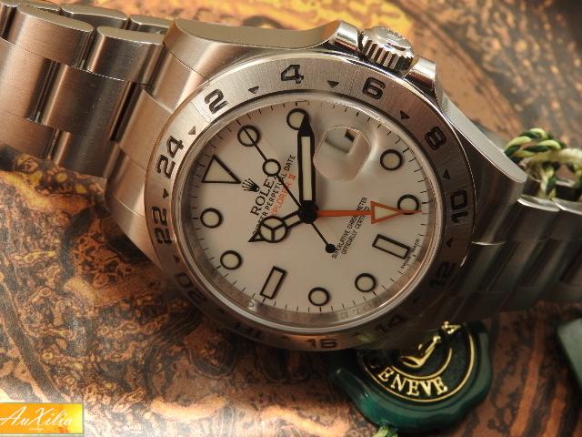 Rolex Explorer II Ref 216570 mai indossato